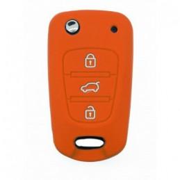 Etui housse Orange Hyundai 3 boutons