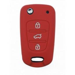 Etui housse Rouge Hyundai 3 boutons