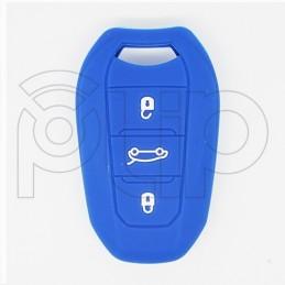 Etui silicone PSA 3 boutons - NOIR