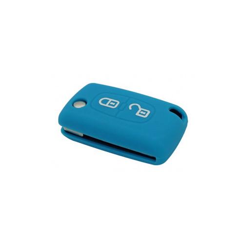 Etui Housse silicone 2 boutons - BLEU