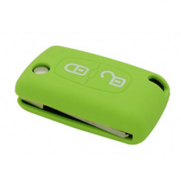 Etui Housse silicone 2 boutons - VERT