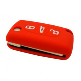 Etui Housse silicone 3 boutons - ROUGE