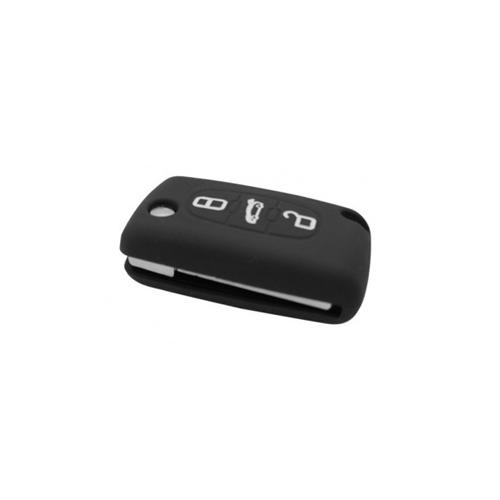 Etui Housse silicone 3 boutons - NOIR