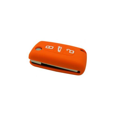 Etui Housse silicone 3 boutons - ORANGE