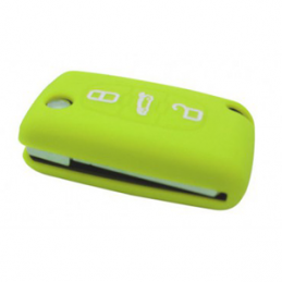 Etui Housse silicone 3 boutons - VERT