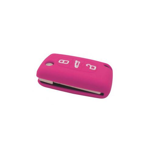 Etui Housse silicone 3 boutons - ROSE