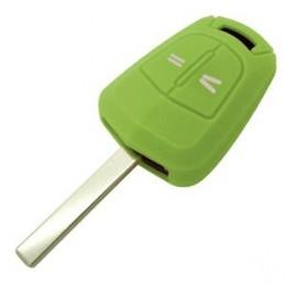 Etui Housse silicone 2 boutons pour clé plip Opel
