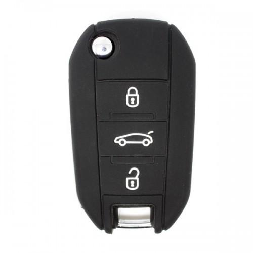 Etui Housse silicone 2 boutons pour clés PSA