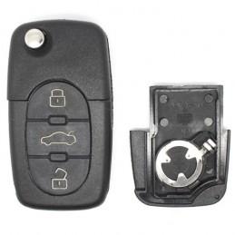 Clé Plip Audi 3 boutons (Pile CR1620)